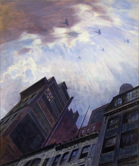, 'Biplanes over New York City.  (Victory Flight WWI.),' ca. 1919, The Old Print Shop, Inc.