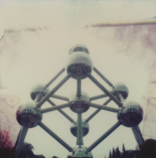 Carmen de Vos, 'Atomium #02 [With greetings from]', 2008, Photography, Digital archival pigment print based on an original Polaroid, Instantdreams