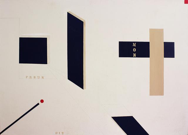 , 'Proun 2,' 2013, Galeria Pilar