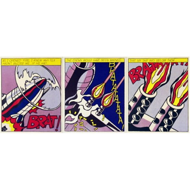 Roy Lichtenstein, 'As I Opened Fire', 1966, Print, Suite of 3 serigraphs on paper, Puccio Fine Art