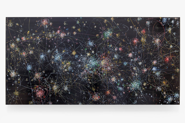 , 'blow up 288 - the long goodbye - subatomic decay patterns with the Sagittarius Star Cloud,' 2016, Von Lintel Gallery