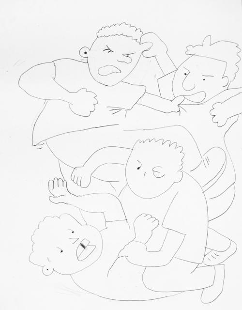 , 'Raufende Jungs (2),' 2013, Galerie Francesca Pia