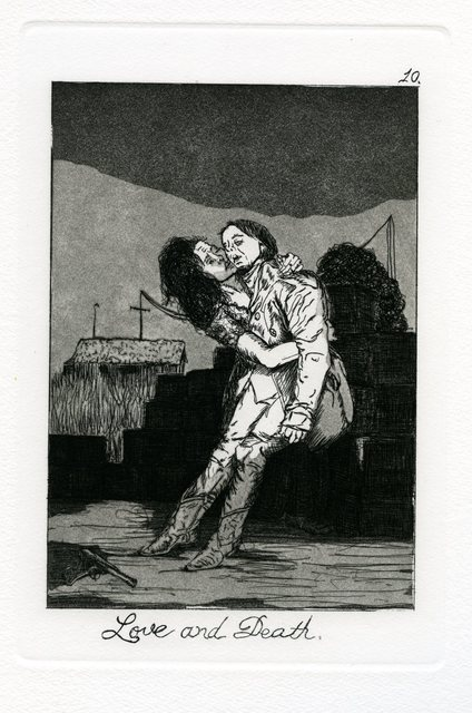 Emily Lombardo, 'Love and Death, from The Caprichos', 2014, Print, Etching and aquatint, Childs Gallery