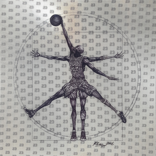 , 'Vitruvian Athlete Basketball,' 2016, Madelyn Jordon Fine Art