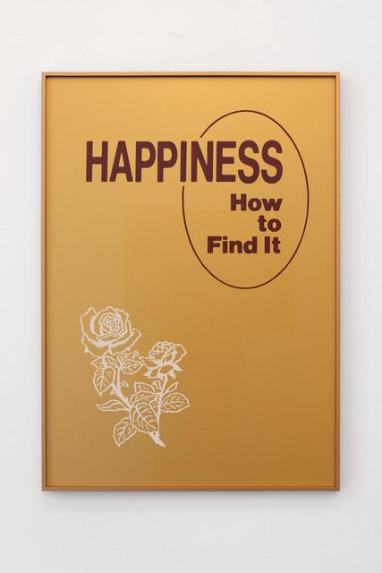 , 'HAPPINESS,' 2019, Galleria Bianconi