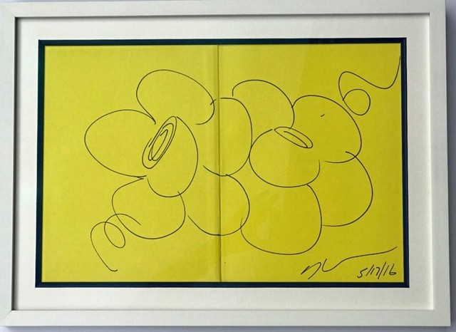 Jeff Koons, 'Two Flowers (Original Drawing)', 2009, Alpha 137 Gallery Auction