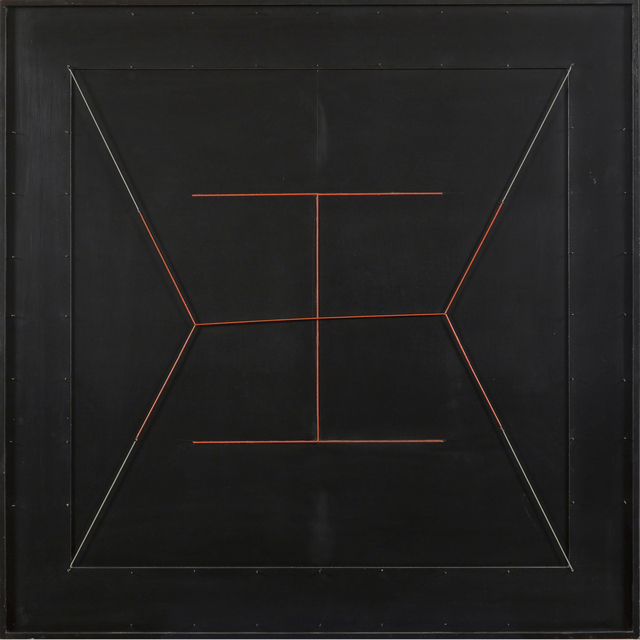 , 'Spazio elastico, doppia I rossa (Elastic Space, Double Red I),' 1979, Robilant + Voena