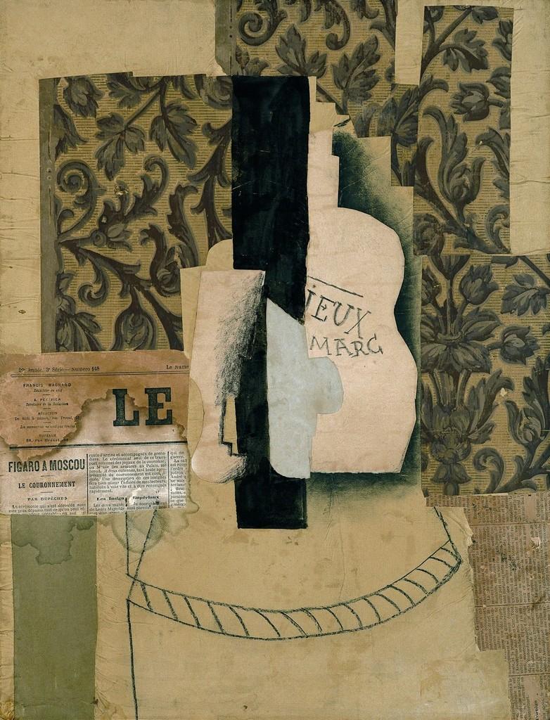 Pablo Picasso | Nature morte, bouteille et verre (1913) | Artsy
