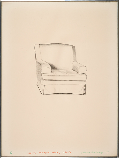 David Hockney, 'Slightly Damaged Chair', 1973, Rago/Wright
