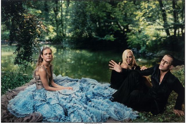 Annie Leibovitz, 'Alice in Wonderland, Donatella Versace and Rupert Everett with Natalia, Paris', 2003, Heritage Auctions
