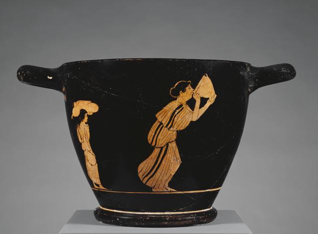 'Attic Red-Figure Skyphos', ca. 470 -460 BCE, J. Paul Getty Museum