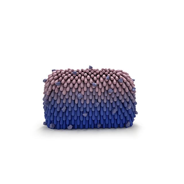 Linda Lopez, 'Purple/ Blue Ombre Furry with Rocks', 2018, Sculpture, Porcelain, Mindy Solomon Gallery