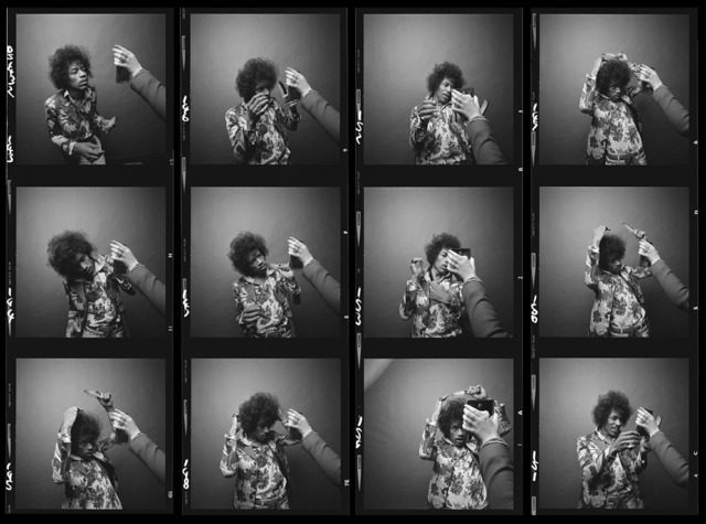 , 'Jimi Hendrix: Room full of mirrors contact sheet,' 1967, Snap Galleries