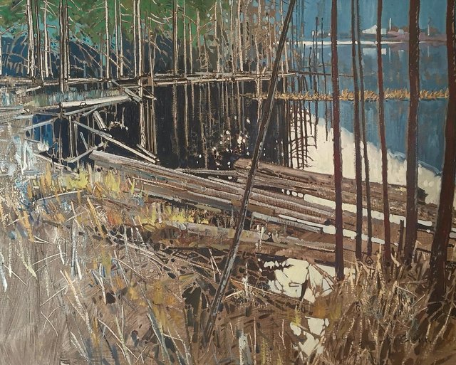 Robert Genn, 'The Good Trout Place ', 1974, Painting, Oil on Canvas, Madrona Gallery