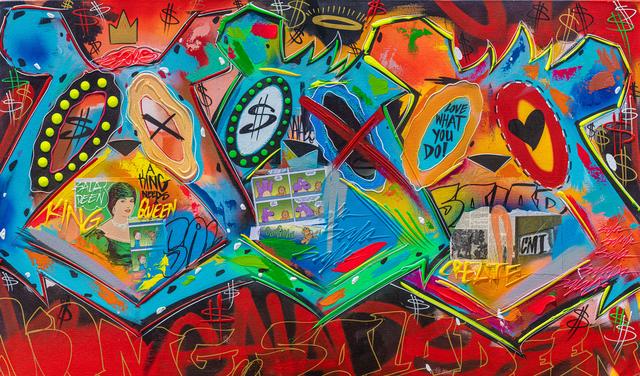 King Saladeen, 'Three Bear Faces', 2019, Painting, Mixed media on canvas, Corridor Contemporary