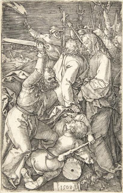 Albrecht Dürer, 'Betrayal of Christ (from the Engraved Passion)', 1508, Print, Original engraving, Heather James Fine Art Gallery Auction