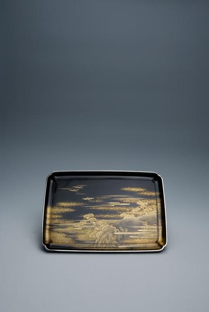 , 'Incense Tray with Cranes over Shōchikubai,' Taisho era (1912, 26), ca. 1920's, Erik Thomsen