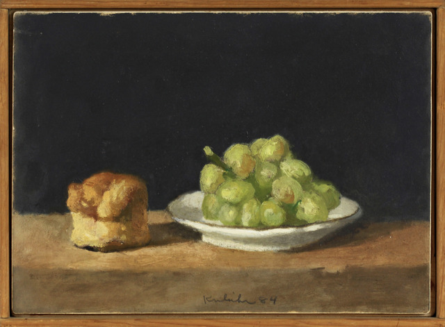 , 'Plate of Green Grapes and Soda Biscuit,' 1984, Davis & Langdale Company, Inc.