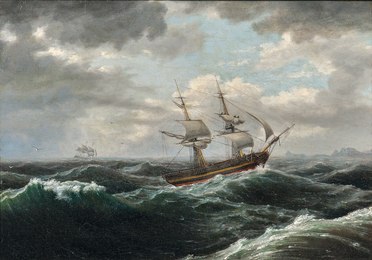 Brig in a Storm