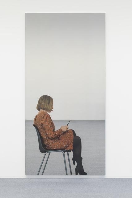 Michelangelo Pistoletto, 'Smartphone - giovane donna 6 movimenti A', 2018, Other, Silkscreen on super mirror stainless steel, Giorgio Persano