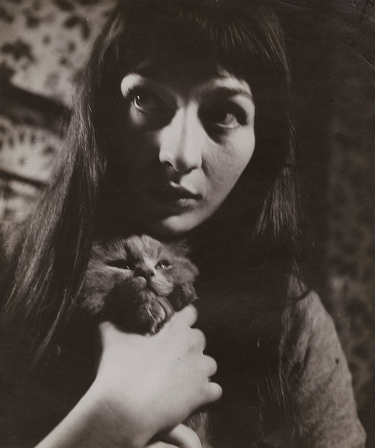 Roger Parry, 'Juliette Greco with Her Cat', 1943 / 1943c, Photography, Silver print unmounted, Contemporary Works/Vintage Works
