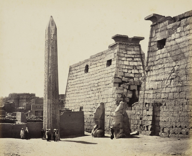 , 'Propylon of the Temple of Luxor and obelisk [Egypt],' 18 March 1862, Royal Collection Trust