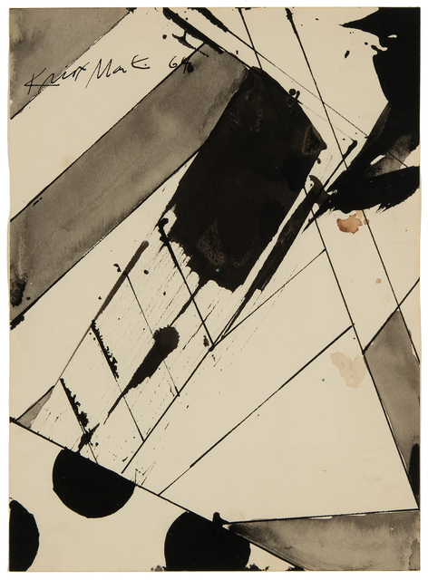 """Knox Martin, 'Study for a painting called """"Edge""""', 1964, Hollis Taggart"""