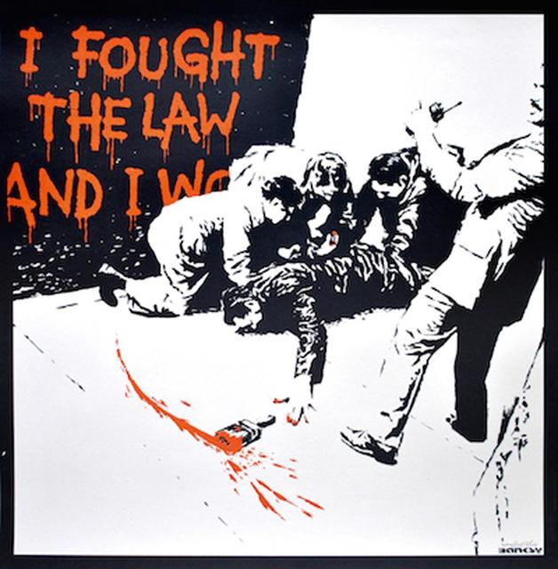 , 'I Fought The Law,' 2004, Graffik Gallery / Banksy Editions