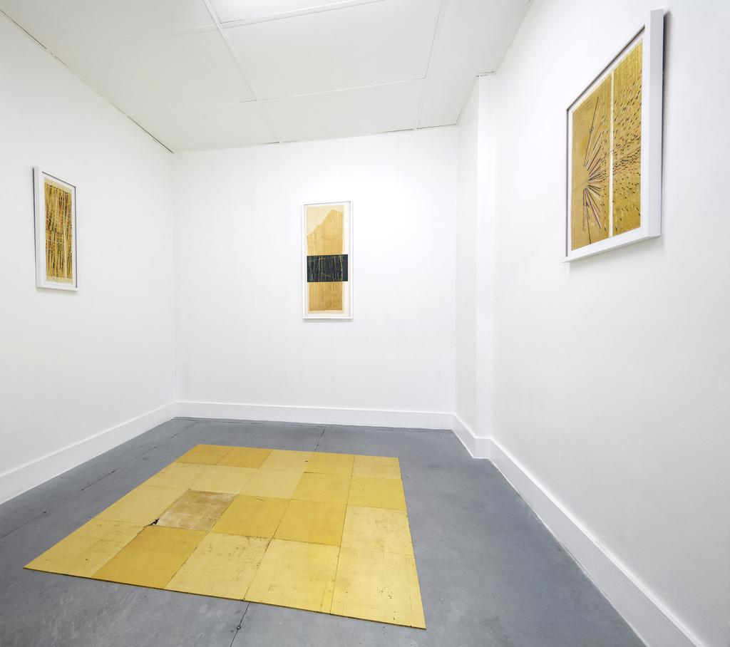 installation shot of Ronny Quevedo, Silueta, at RUBBER FACTORY. Back room installation.