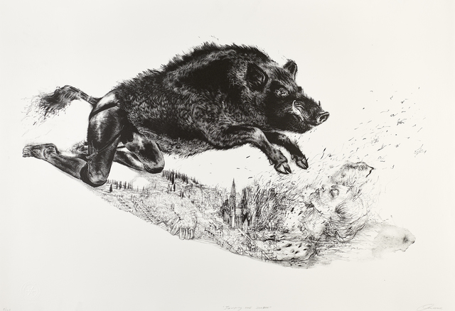 Diane Victor, 'Jumping the Shadow', 2017, Print, Lithograph, Goodman Gallery