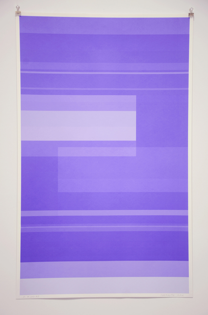 , 'Protest Violet,' 2016, Minus Space