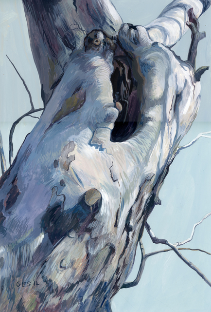 Gillian Bradshaw-Smith, 'Finding Daphne #22 (Leaning)', 2014, Painting, Gouache on paper, Ro2 Art