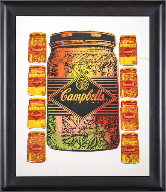 Steve Kaufman, 'Campbells Soup Warhol Famous Assistant Pop Art Oil Painting', 1994, Modern Artifact