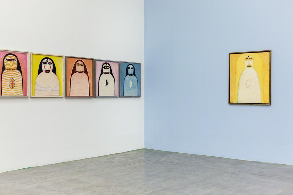 "Hans Schärer: ""Madonnas and Erotic Watercolors,"" installation view."