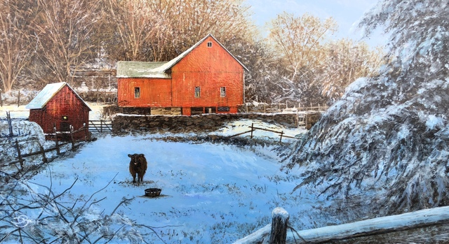 Del-Bourree Bach, 'Winter Watch', 2020, Painting, Acrylic on Panel, The Galleries at Salmagundi