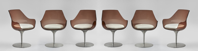 "Erwine & Estelle Laverne, 'A set of 6 "" Champagne"" chairs', ca. 1960, Galerie Hervouet"
