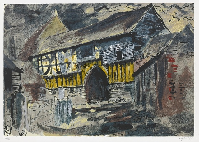 John Piper, 'Wigmore Abbey Gateway', 1981, Portland Gallery
