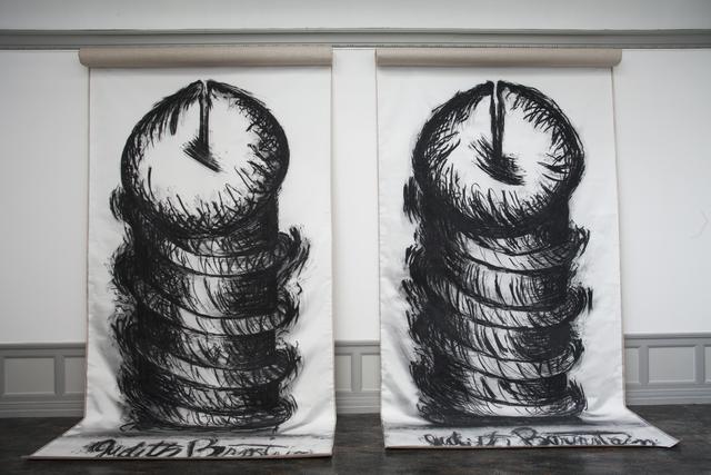 , 'Vertical Screws,' 2014, Kunsthall Stavanger
