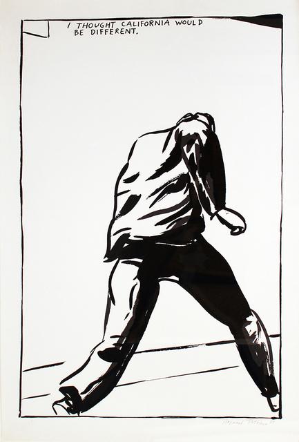 Raymond Pettibon, 'Untitled (I Thought California)', 1989, Robert Berman Gallery