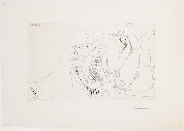 Pablo Picasso, 'Deux Femmes Batifolant sur un Matelas de Plage, from 347 Series', 1968, Leslie Sacks Gallery
