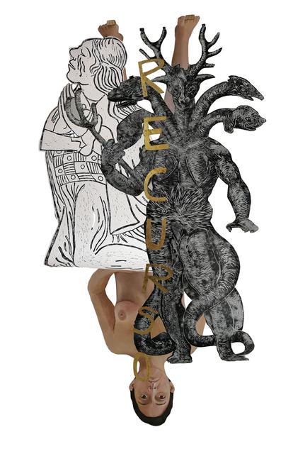 , 'El cuerpo de la mujer es la pizarra donde escribe el poder  ,' 2019, Parque Galería
