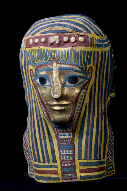 , 'Original Late Period Egyptian Cartonnage Mask ,' 711 BCE-332 BCE, Muzeion Gallery