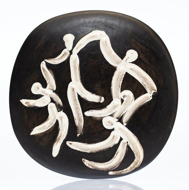 Pablo Picasso, 'Quatre danseurs', 1956, White earthenware ceramic plaque with black engobe and white glaze, Heritage Auctions