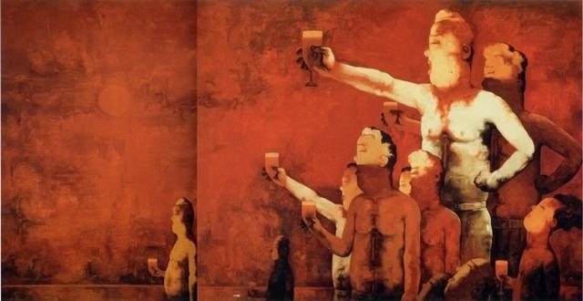 Su Xinping 苏新平, 'Toasting No.35  干杯三十五', 2006, Painting, Oil on canvas, Linda Gallery