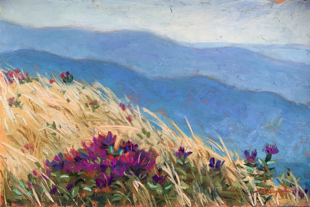 Takeyce Walter, 'Day 19: Lapland Rosebay at the Summit', February 2020, Painting, Pastels, Keene Arts