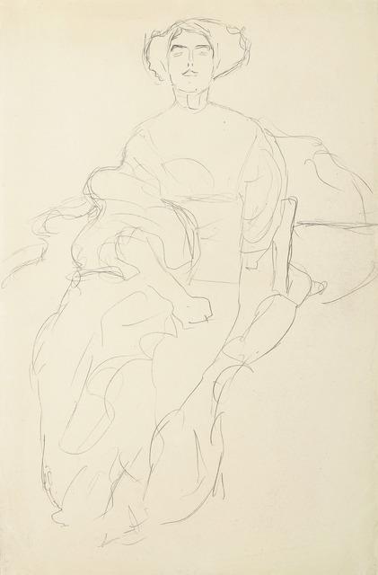 , 'Amalie Zuckerkandl Seated from the Front,' 1917, Galerie Bei Der Albertina Zetter