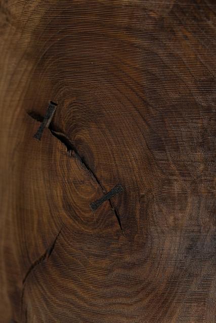 Ernst Gamperl, '45/2020//180', 2020, Sculpture, Turned oak wood sculpture, bleached, limed, Spazio Nobile