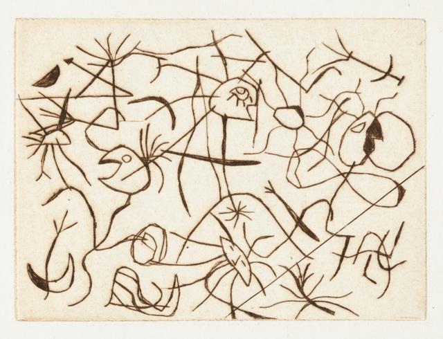Joan Miró, 'Astres et Danseurs', 1938, Print, Original etching printed in dark brown ink on wove paper., Christopher-Clark Fine Art