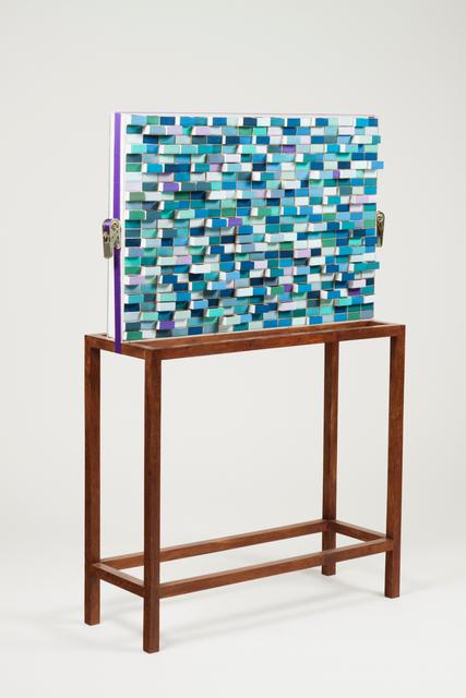 "Rodrigo Oliveira, '""Ca(u)sas""', 2012, Sculpture, Matchboxes, wood structure, acrylic box and stretcher, Veritas"