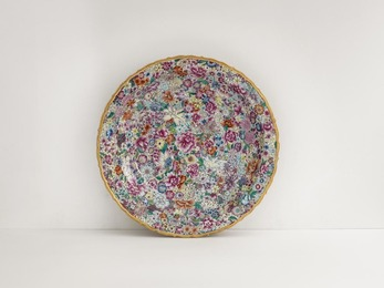 Porcelain Plate with Flowers